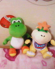 My Yoshi and Bowser Jr. Plushies X3