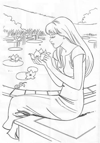 বার্বি coloring pages
