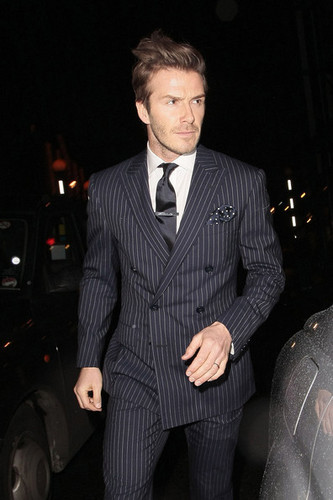 David and Victoria Beckham in Mayfair for Fashion Week - February 21, 2011
