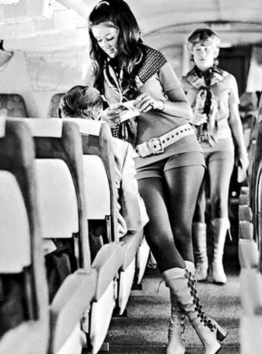 Flight attendants in the 1960s