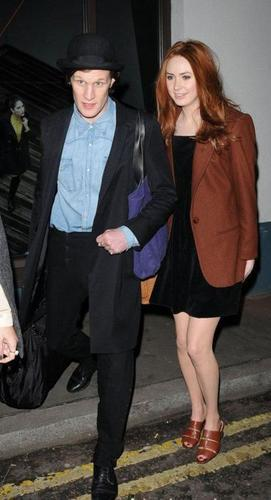 Matt & Karen at London Fashion Week 20/2/11
