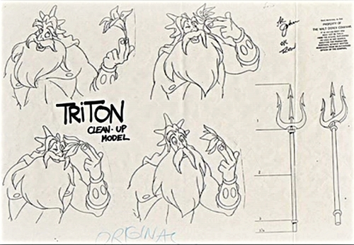 Walt Disney Sketches - King Triton