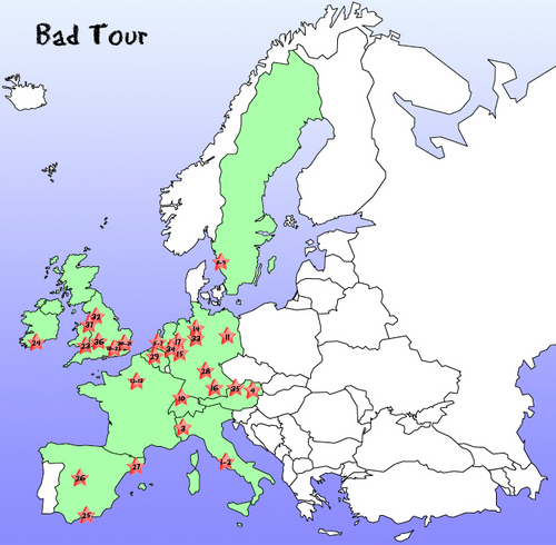 bad tour map