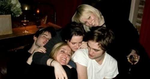 New/Old photo of Rob, Kristen and Tom