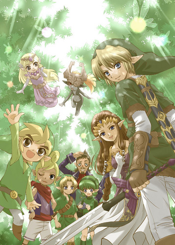 Zelda and Link Through the Years