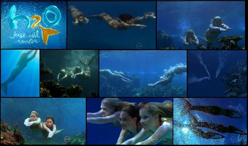 Collage ''Girls Swiming''