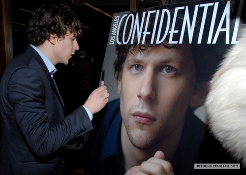 February 26th: LA Confidential Magazine Celebrates Cover star, sterne Jesse Eisenberg