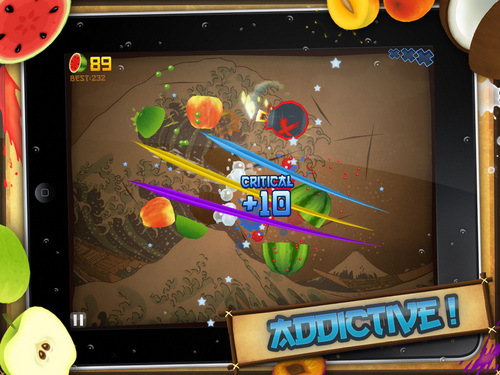 Fruin Ninja addictive in action
