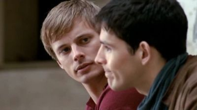 Bradley James and Colin Morgan