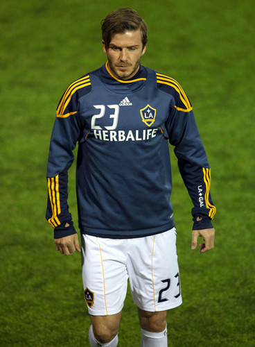 David And The LA Galaxy Playing A Soccer Match Against Club Tijuana - March 3, 2011