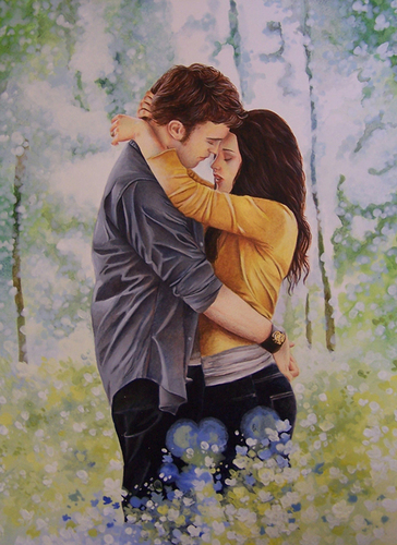 팬 Art: ( bella and edward in Eclipse , End Meadow Scene)