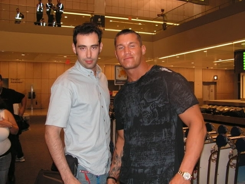 Randy orton with a fan