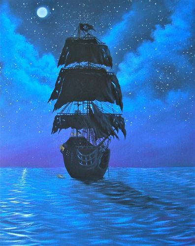 The Black pearl.