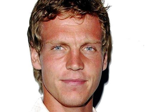Tomas Berdych has blond hair and blue eyes and is the opposite dark Nadal and Federer