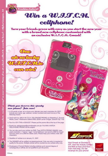 w.i.t.c.h cell phone(yes they have one winxlove)