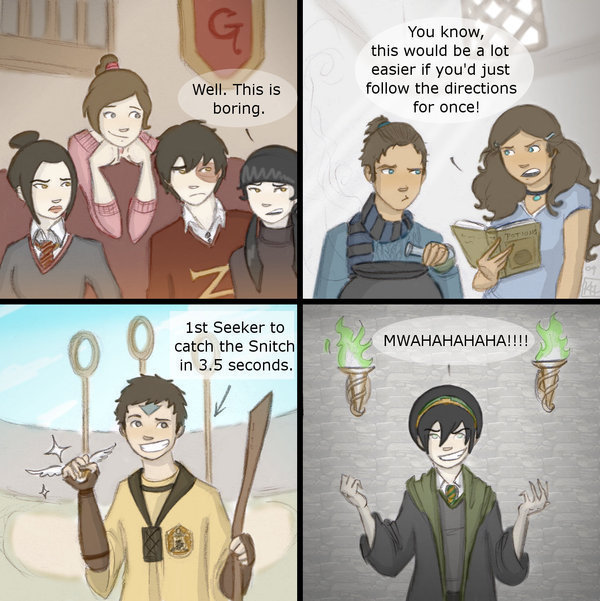 Team Avatar at Hogwarts