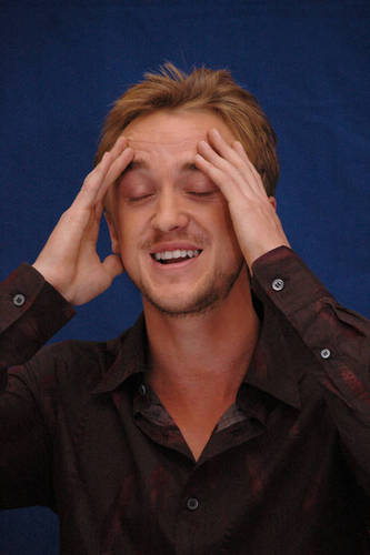 Tom Felton at the London press conference for DH 1 new pics