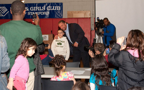 HHH at the Fatherhood and Mentoring Initiative rally in Stamford