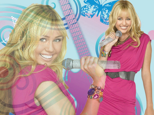 Hannah montana wallpaper by me!