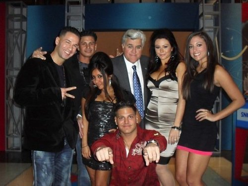 Jersey Shore cast with Jay Leno