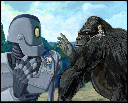 King Kong / Iron Giant mashup