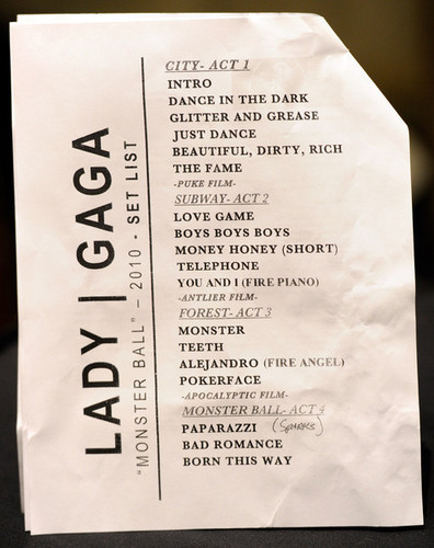 MONSTER BALL-2010- SETLIST