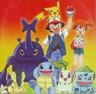 Ash,Misty & Johto group