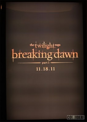 First look at Breaking Dawn Part 1 Promo Poster!