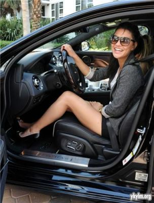 March 26th - Jessica Szohr at the Miami Jaguar XJ Driving Experience