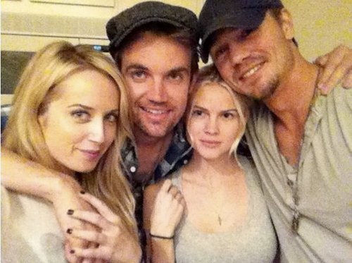 Chad Michael Murray and Tyler Hilton and Mckenize Dalton and Megan Park at bbq