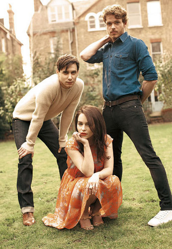 Harry Lloyd, Emilia Clarke & Richard Madden