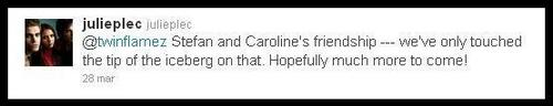 Julie Plec Tweet About Staroline