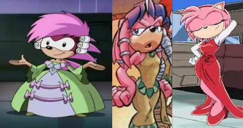 Pink Sonic Girls in their Formal Wear
