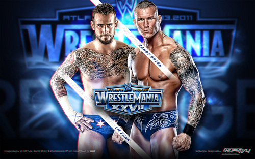 Wrestlemania 27 CM Punk vs Randy Orton