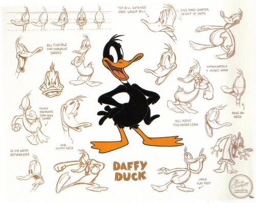 daffy model sheet