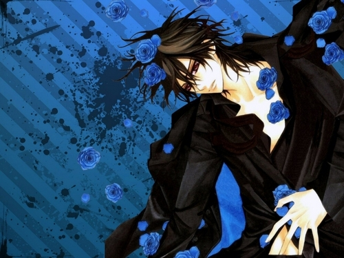 kaname with blue roses >3<