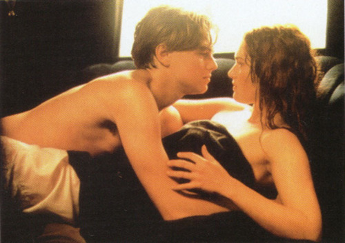 "Leo and Kate in ""Titanic"""