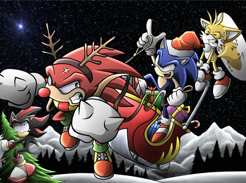 Sonic the Hedgehog images Merry Xmas HD wallpaper and ...
