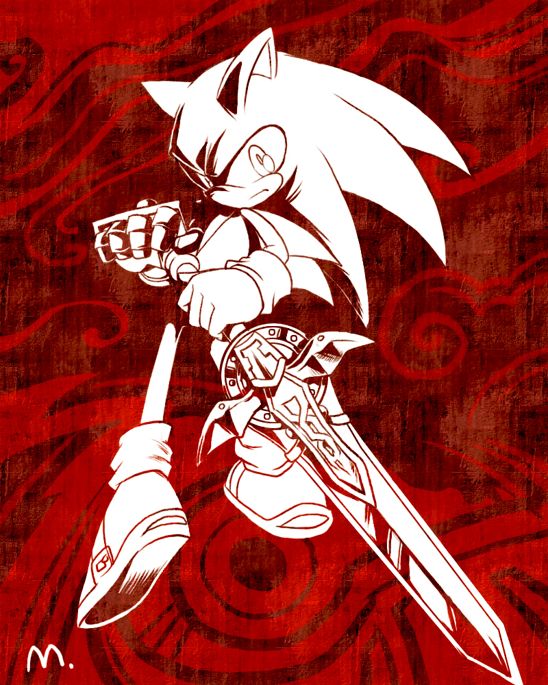 Red And Black Sonic And Friend From The Black Knight Photo