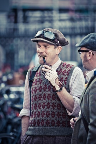 Ewan at the Tweed Run Londres 2011
