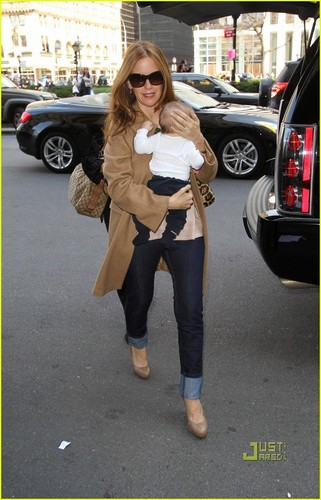 Kelly Preston: NYC with Baby Benjamin!