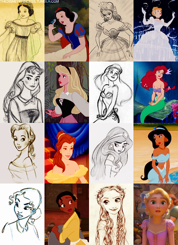 Princesses concept art