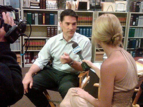 Thomas Gibson giving an Interview
