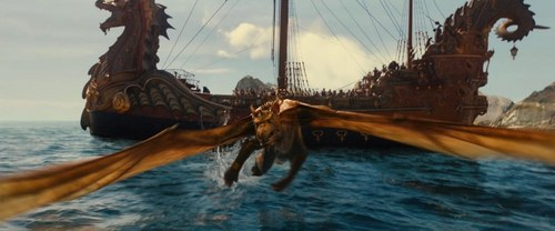 dawn treader and dragon