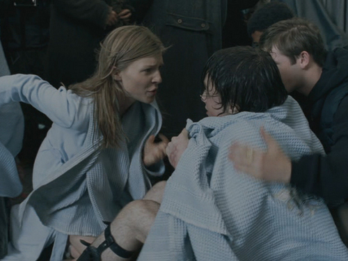 Fleur Delacour with Harry Potter in Goblet of apoy