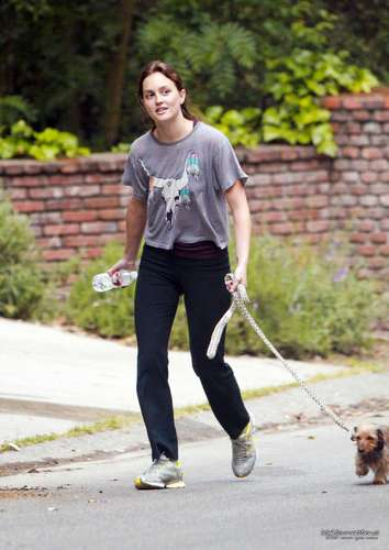 Leighton Meester Out Hiking With Her Dog on 04/18 Candids