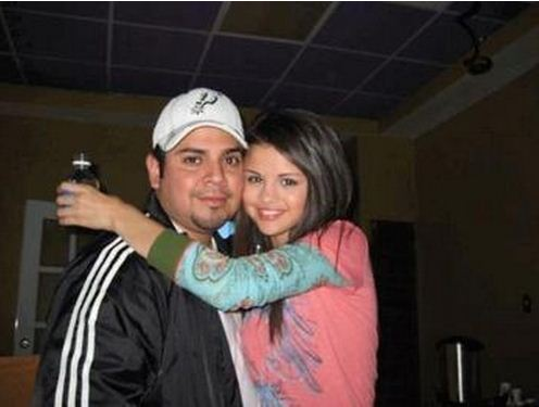 Selena gomez with her dad