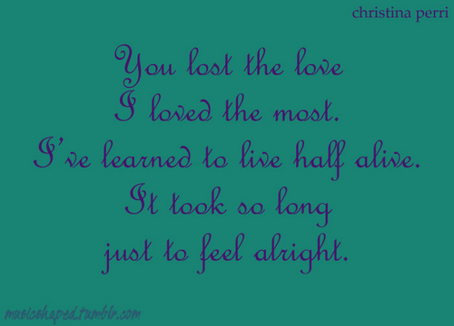 you lost the love...