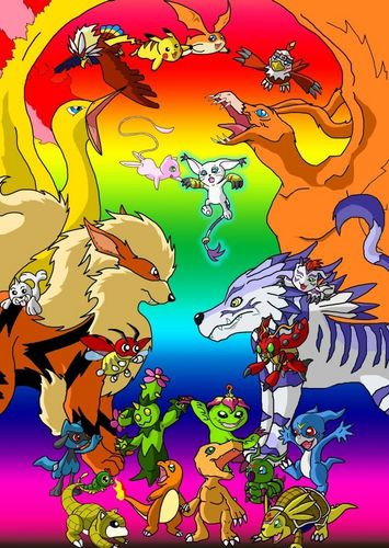Pokemon and Digimon Together