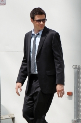 Cory on set of Glee {4/21/11}
